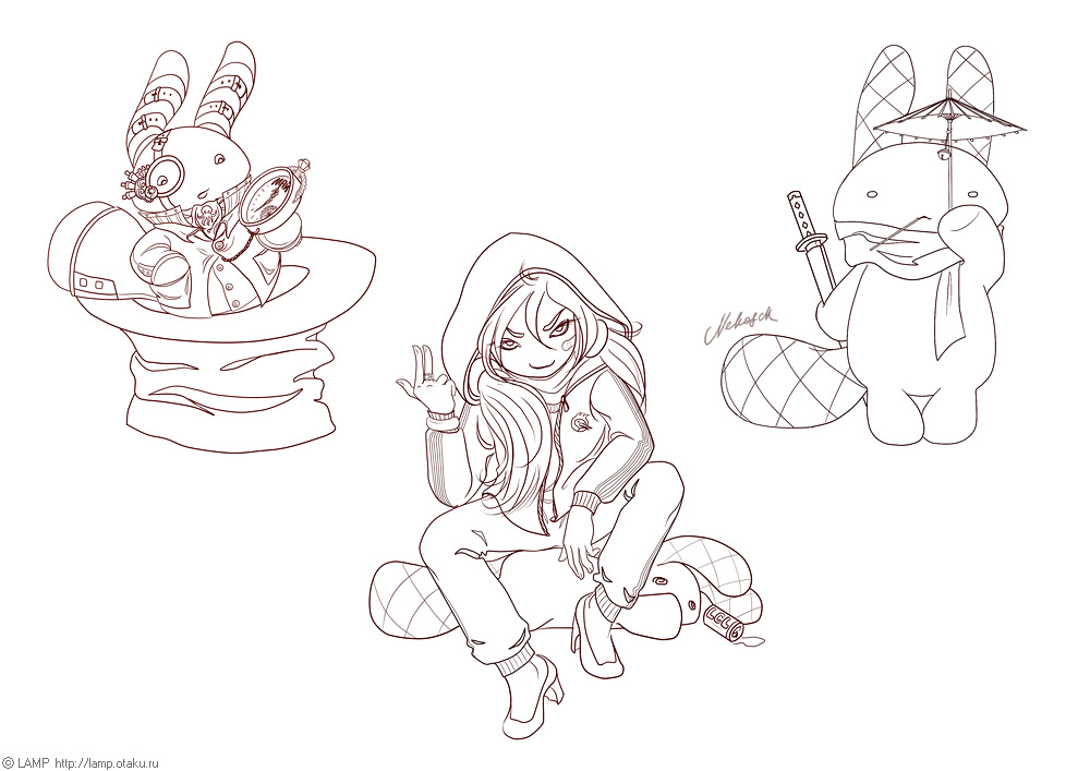 more mascot chibies