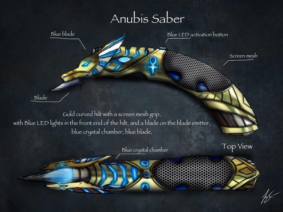 anubis saber consept by joshsmithstudio