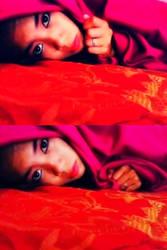 red looks comfortable by xrahxrahx