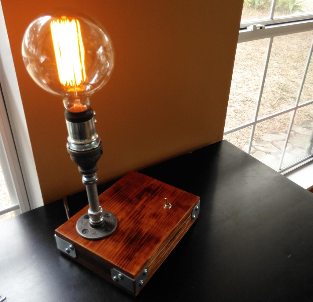 Industrial desk lamp steampunk furniture by for How to make an industrial lamp