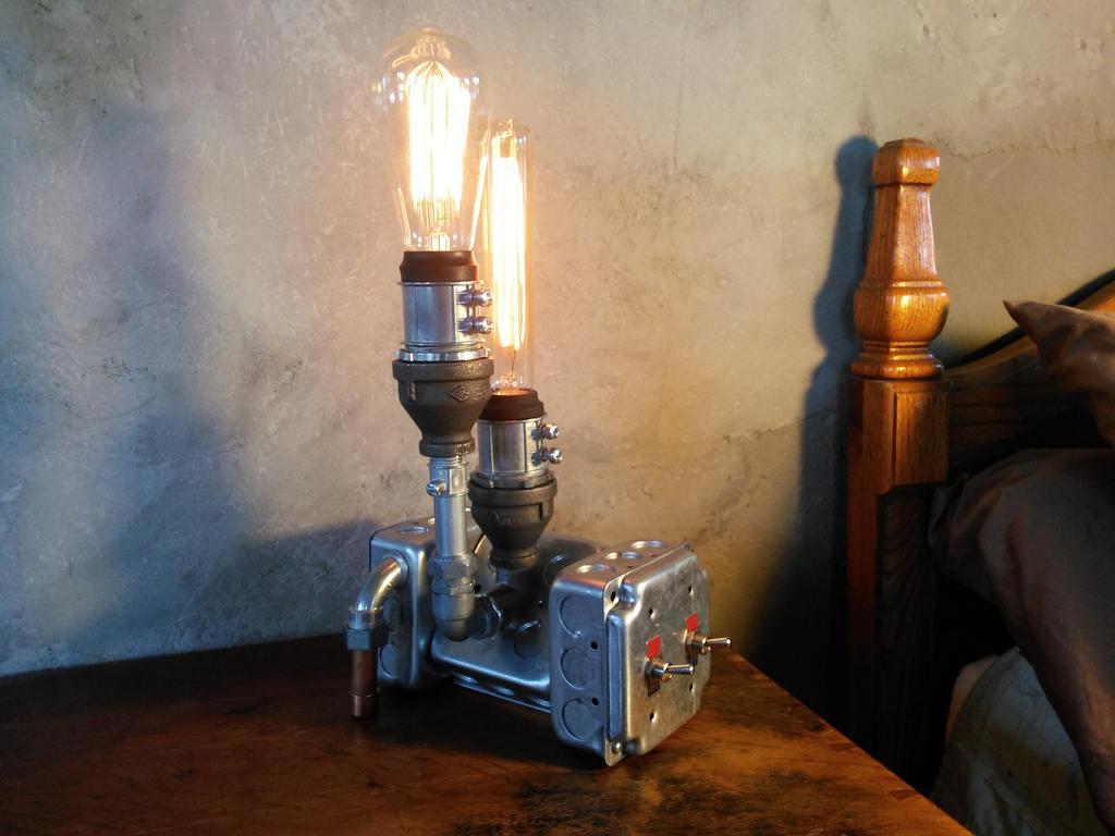 Superbe Steampunk Lamp Industrial Lighting Furniture By Novemberreserve ...