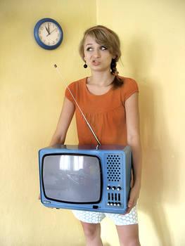 ''retro TV set''