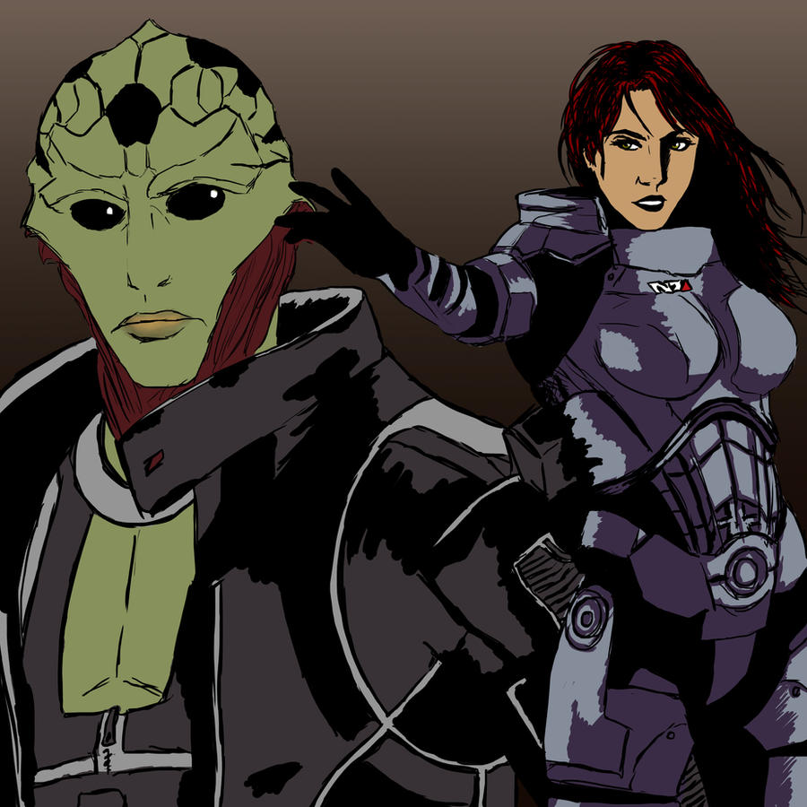 Thane and Shepard by Veni-Scripsi-Vici