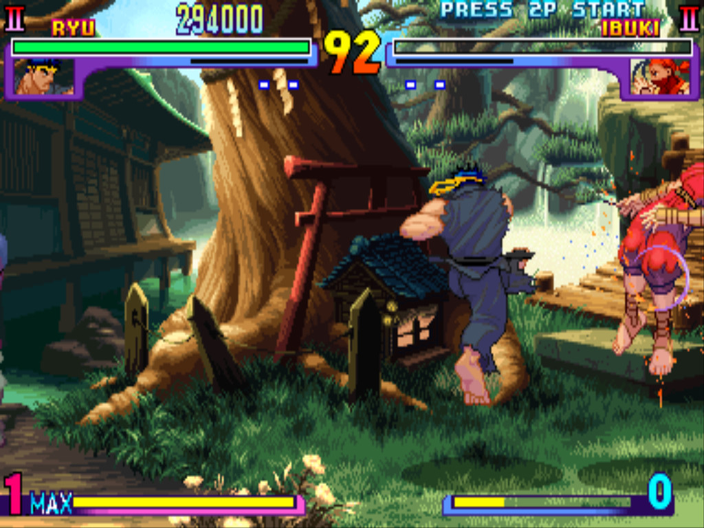 Super ibuki knocked by ryu by metal-slug-233