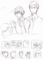 KnB: AoKise Sketch ~~~ by Kuro-Arisu