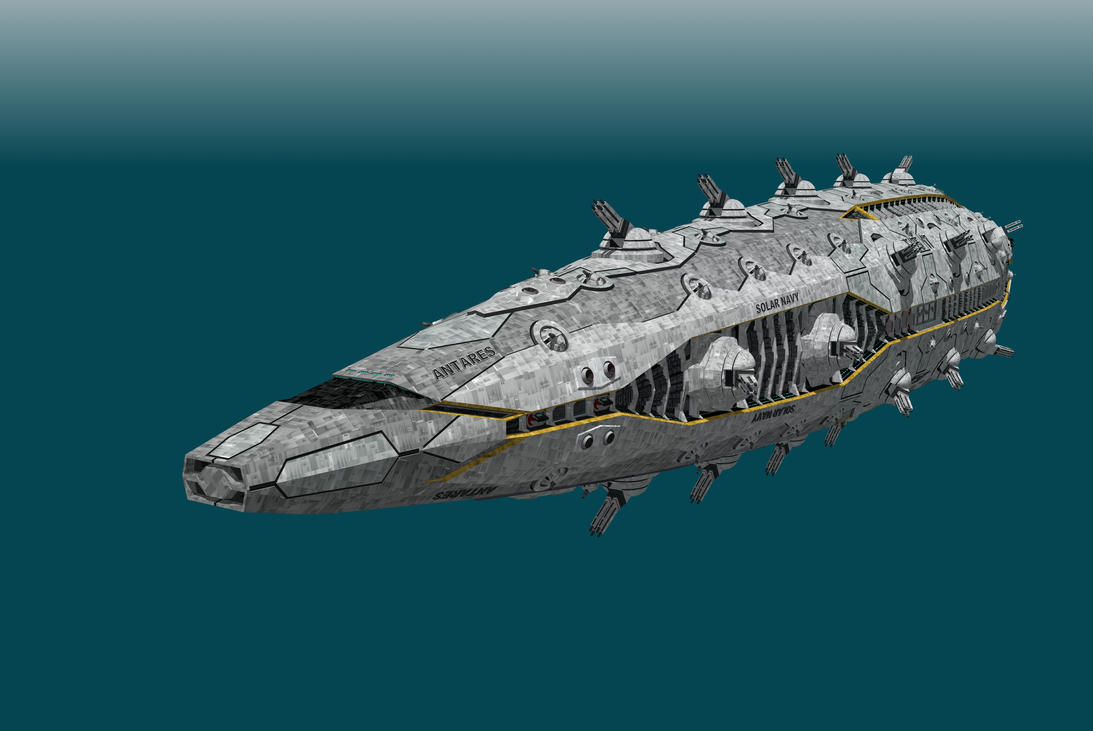 Antares class battlecruiser by Scifiwarships