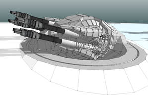 CDB Centauri main turret by Scifiwarships