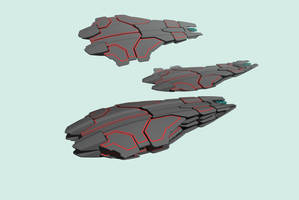 twin spaceship concept by Scifiwarships