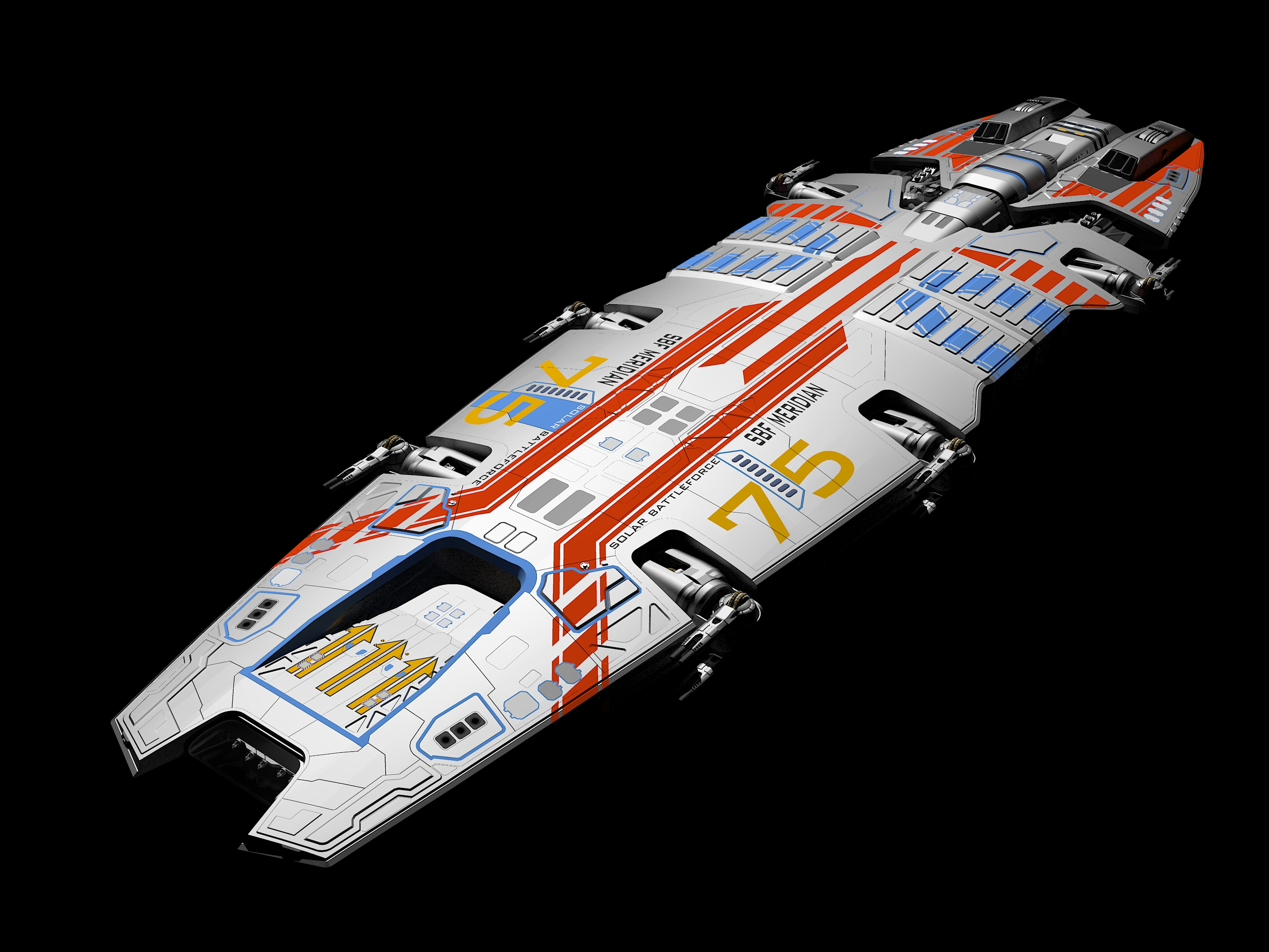 Meridian battlecruiser colors by Scifiwarships