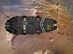 SBF Cressida in orbit over Mars
