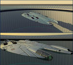 Fast Frigate Leaving Base