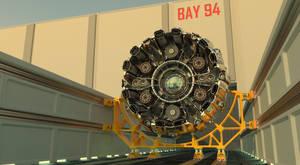 Radial Fighter in transport cradle