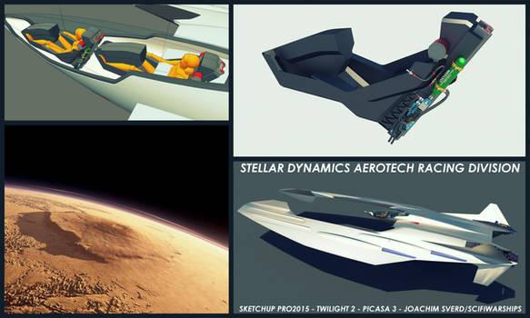 Martian Aeroracer update2 by Scifiwarships
