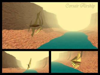 Corsair Airship by Scifiwarships