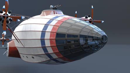 Airship bridge closeup