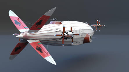 Airship tail closeup