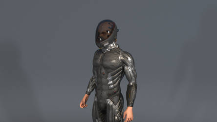 Standing idle helmet001