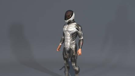 Standing idle helmet002