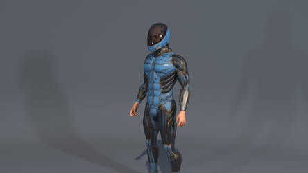 Standing idle helmet003