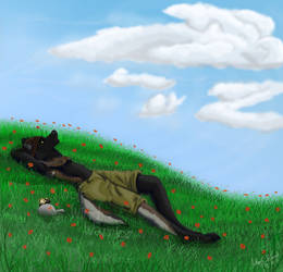 Commission - Relaxation by Silverfang-Alchemist