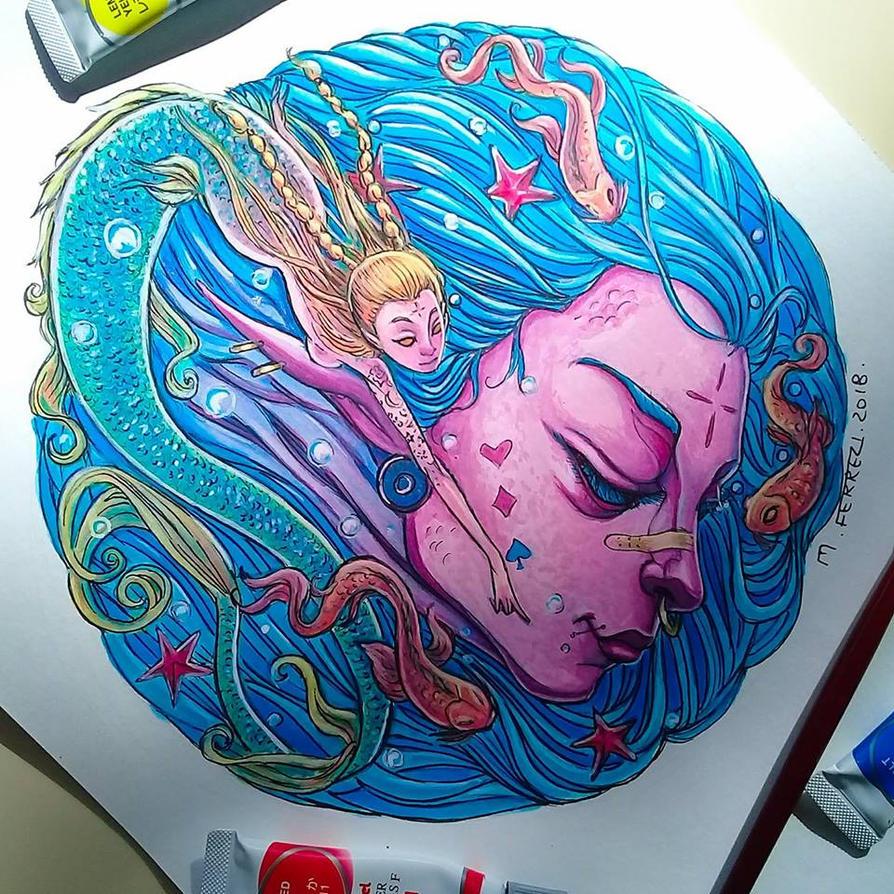 Mermaid by ferreriart