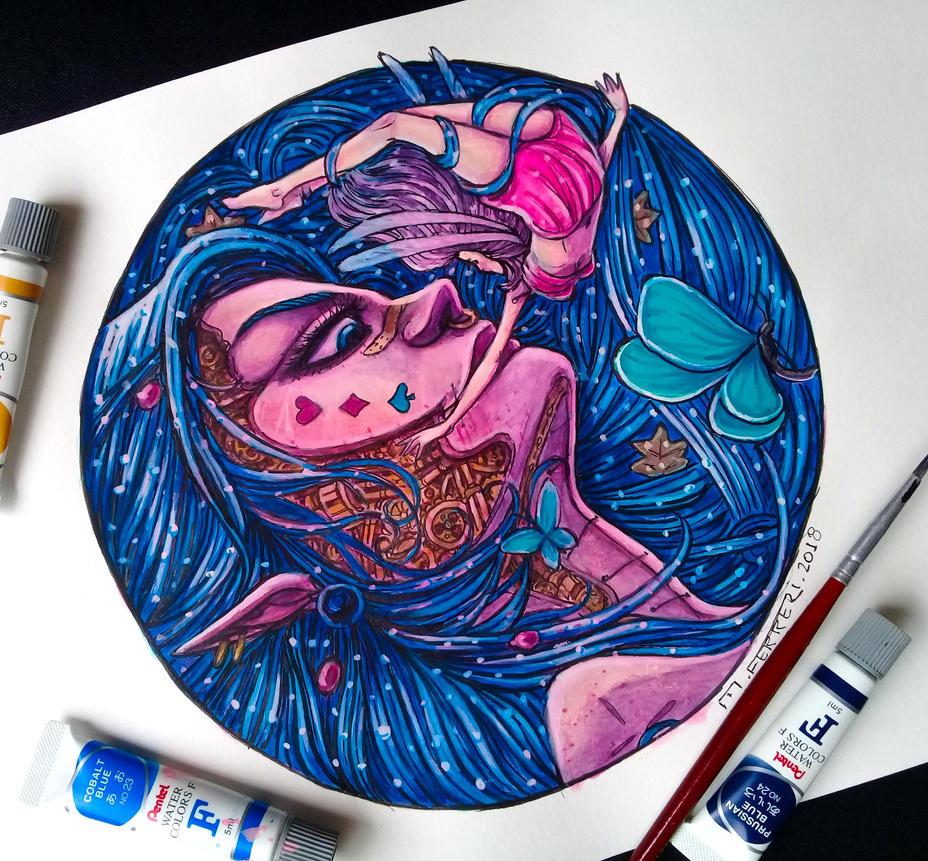Girl Mecha by ferreriart