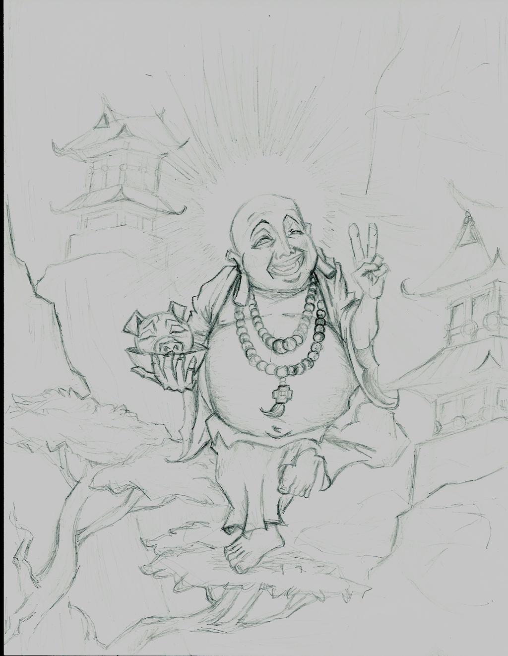 Fat buddha by jeyyeah on DeviantArt