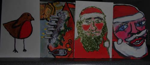 Christmas Card Making - Close Up by NahMushyPeas