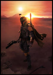 Star wars Boba Fett by jamga