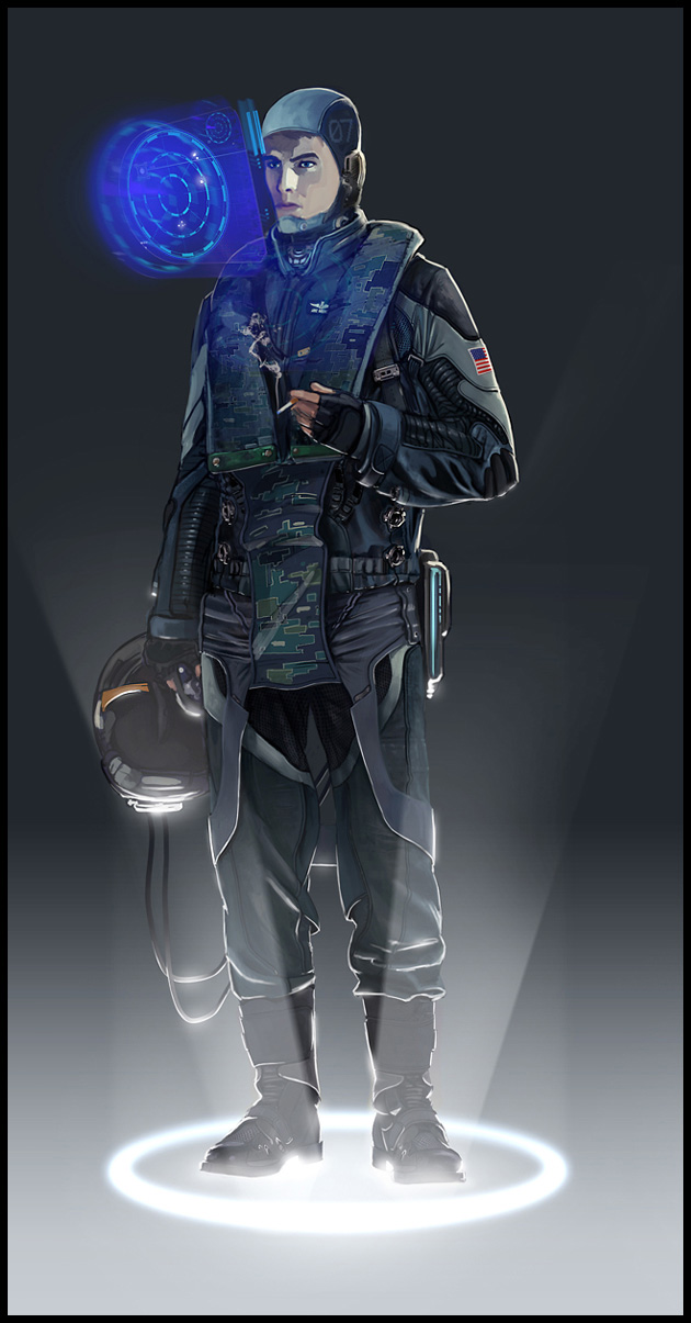 scifi pilot by jamga
