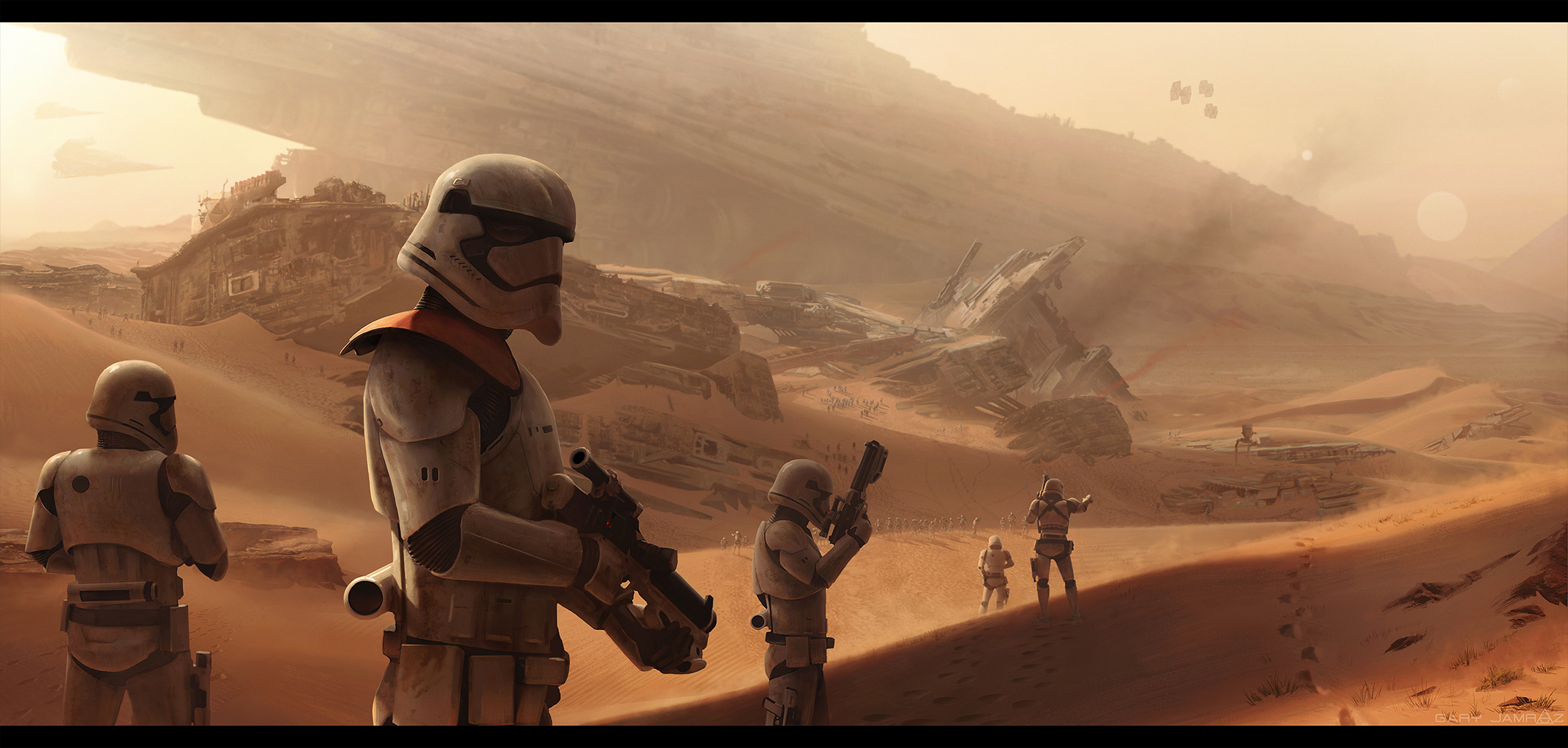 FIRST ORDER TROOPERS - fan art by jamga