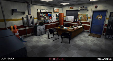 Swimming Pool Office - LIFE IS STRANGE by jamga