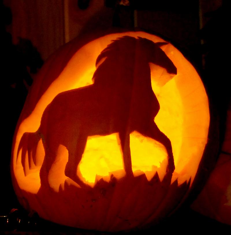 Unicorn of the moor pumpkin by tarotshama on deviantart