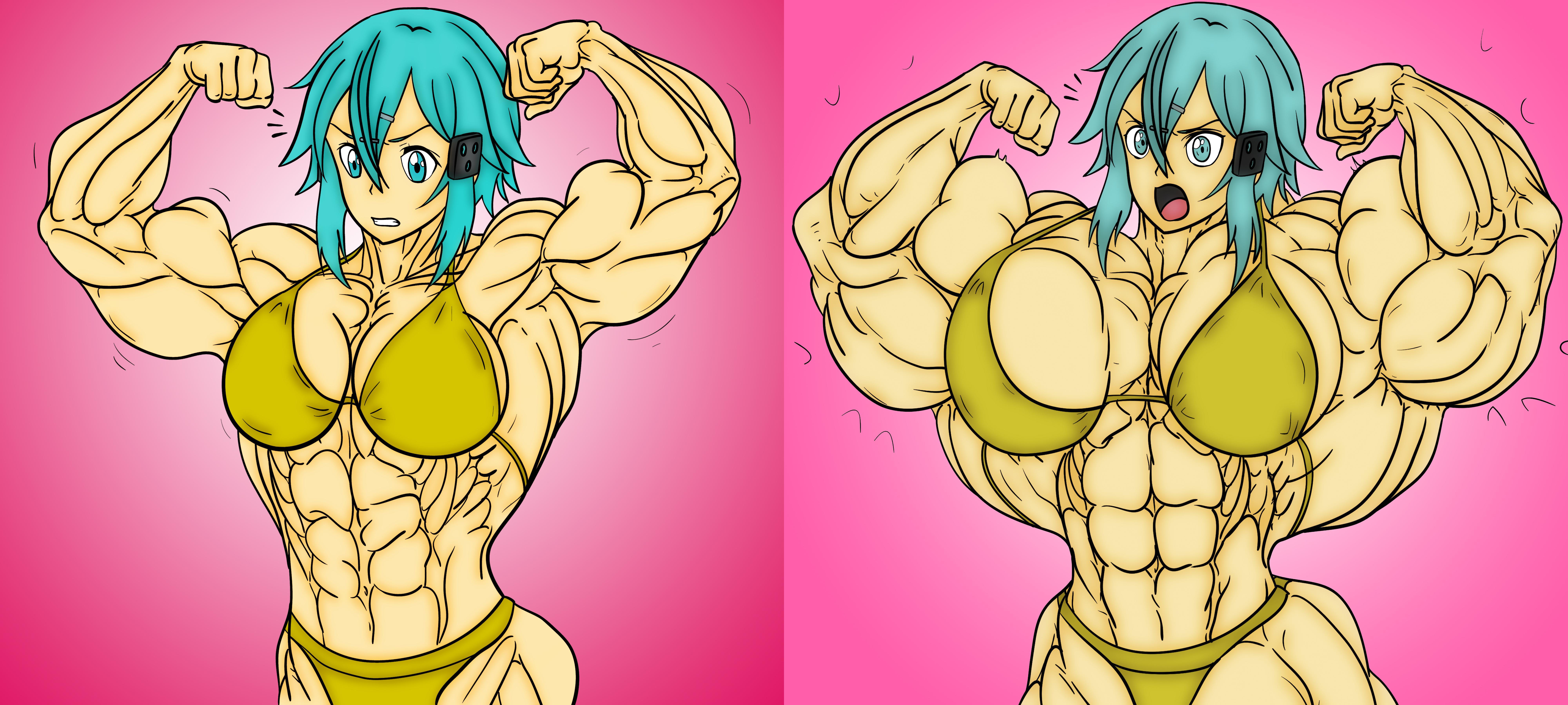 Anime Girl Growth sinon - female muscle growthlauricedeauxnim on deviantart