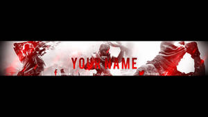 Red gaming banner