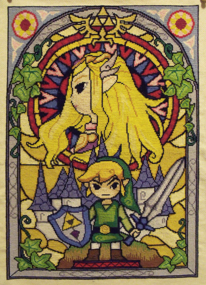 Windwaker Cross Stitch by trufflefunk