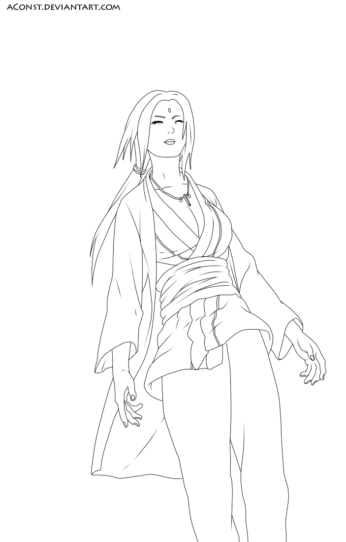 Naruto Ch162- Tsunade lineart by aConst on DeviantArt