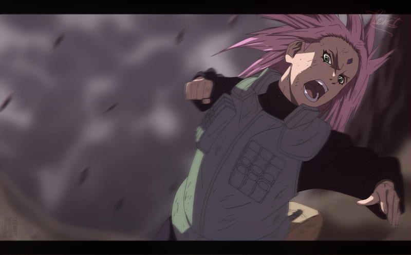 Haruno Sakura - Naruto CH632 by aConst