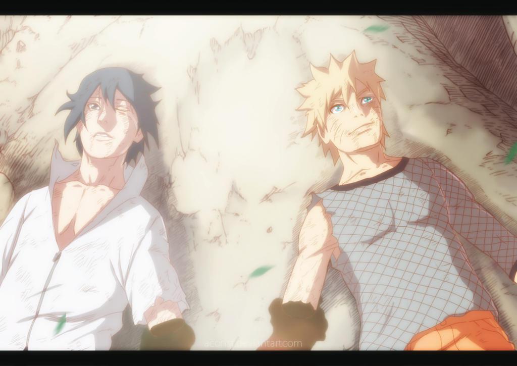 Naruto and Sasuke - Naruto CH698 by aConst