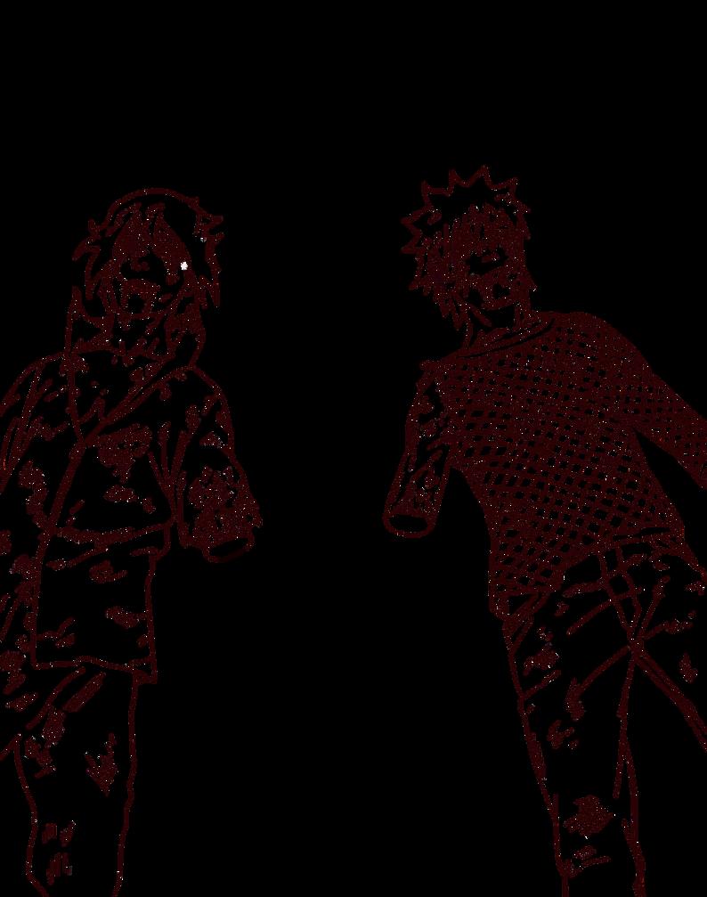 Naruto and Sasuke - Naruto CH698 Lineart by aConst