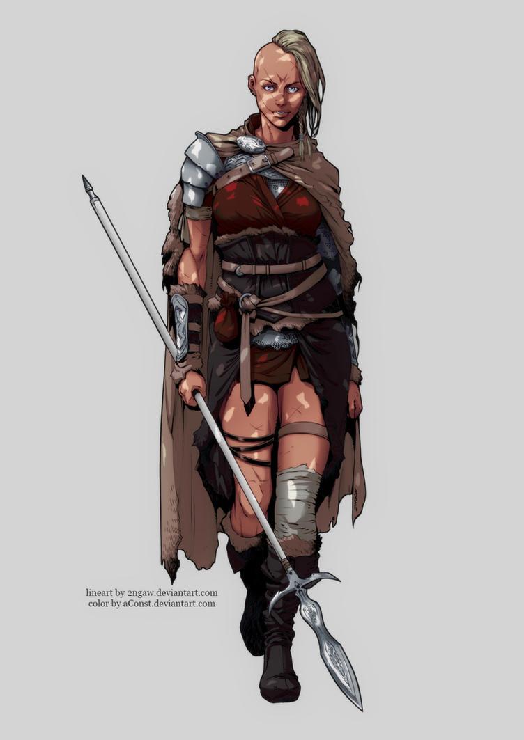 Celtic Princess - Digital color by aConst