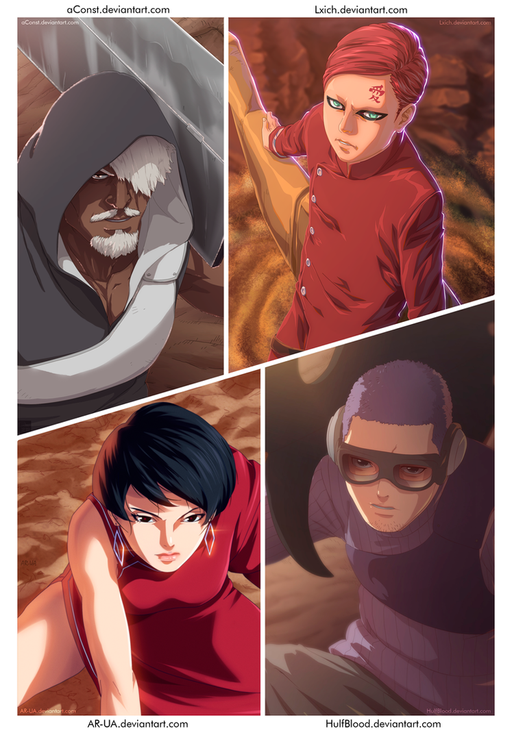 4 Kage - Boruto (Color Collaboration) by aConst