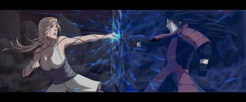 Fight of gods - Naruto ART Tsunade VS Madara by aConst