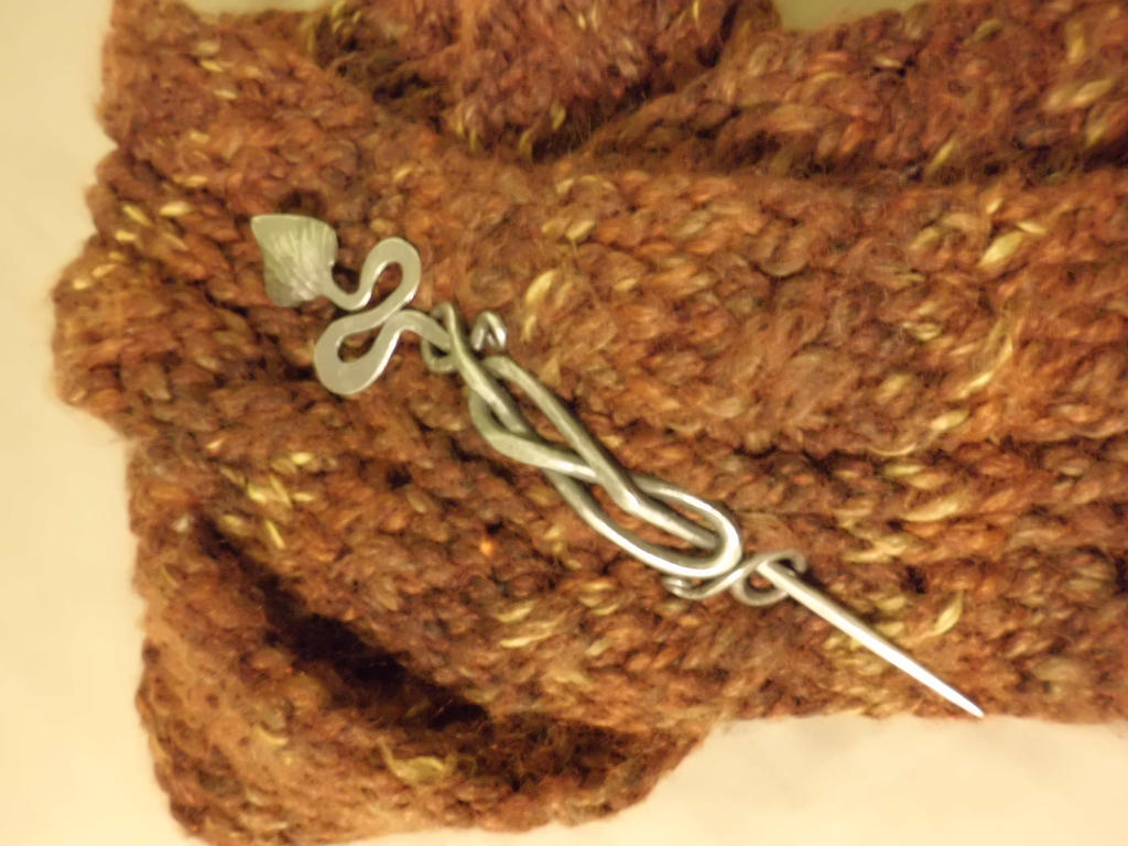 hand forged scarf pin by crazyandconfusedone