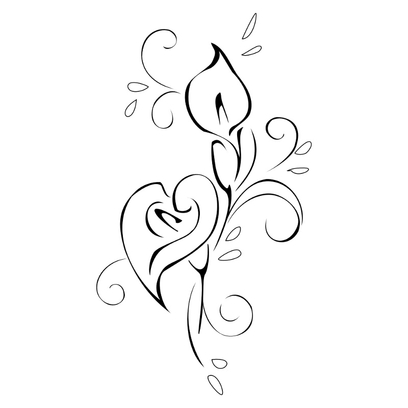 swirly calla lily tattoo by tattootribes on deviantart. Black Bedroom Furniture Sets. Home Design Ideas