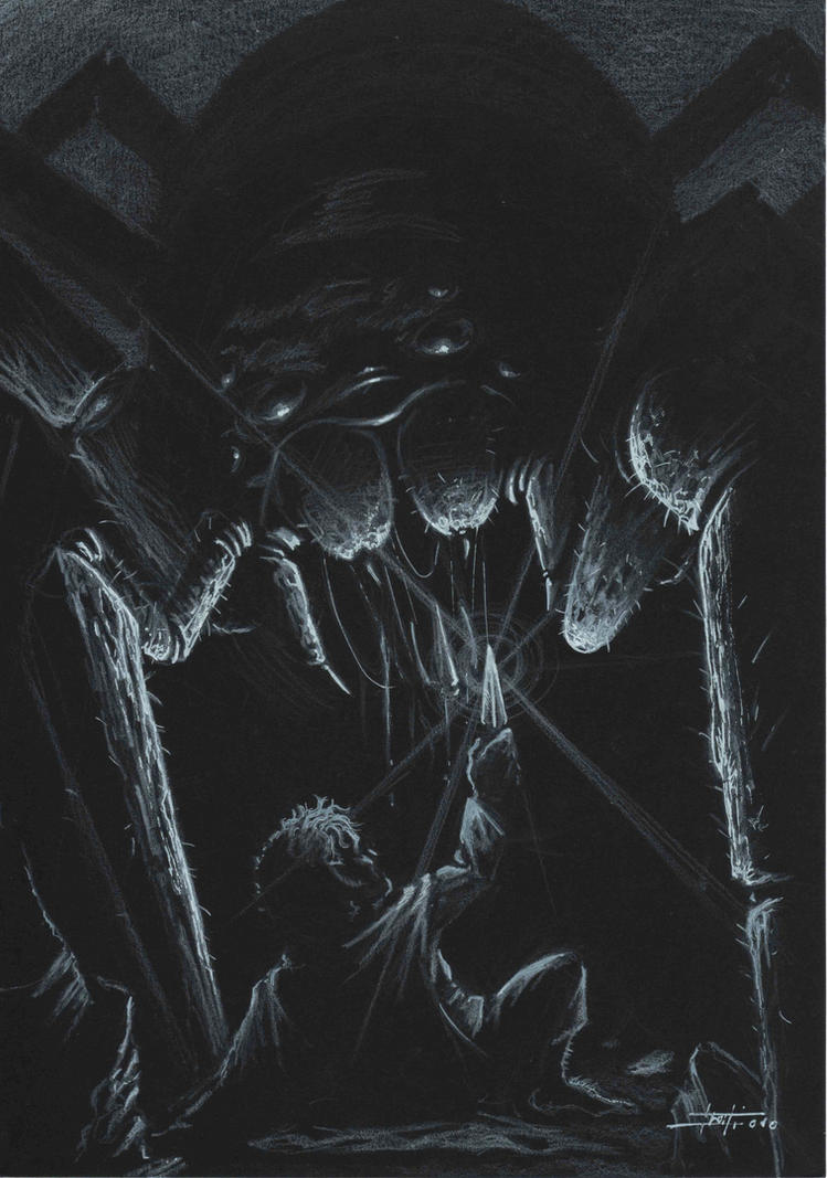 Sam and Shelob by LucaStrati
