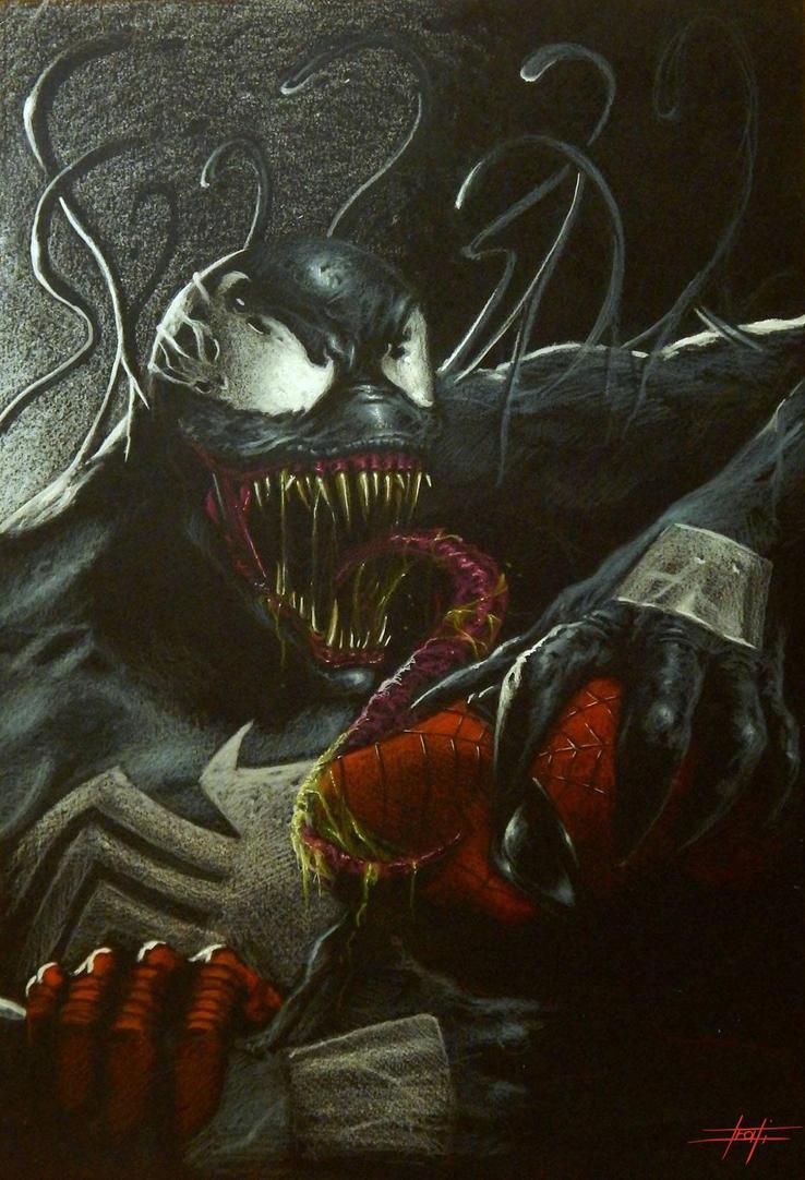 Venom vs Spiderman by LucaStrati