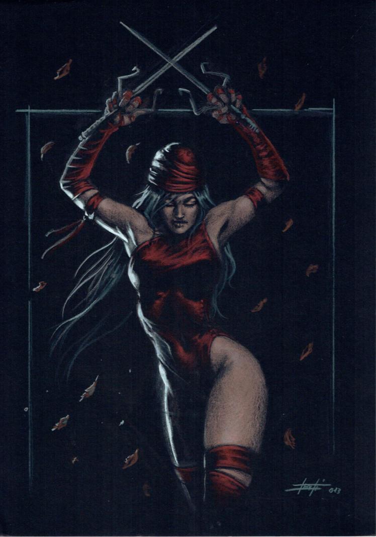 Elektra on black by LucaStrati