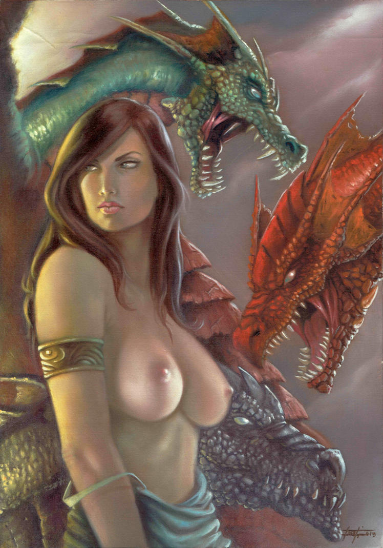 Lady with the dragons by LucaStrati
