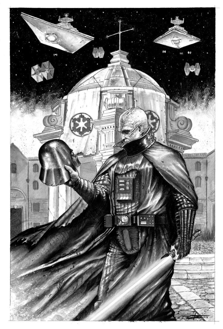 Darth Vader unmasked by LucaStrati